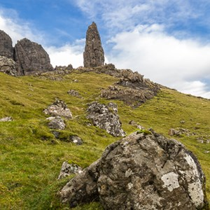 2016-10-16 - The old man himself<br/>Old Man of Storr - Trotternish - Schotland<br/>Canon EOS 5D Mark III - 24 mm - f/11.0, 0.04 sec, ISO 200