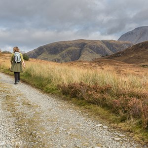 2016-10-19 - Carin aan de wandel<br/>Wandeling rond Cow Hill - Fort William - Schotland<br/>Canon EOS 5D Mark III - 40 mm - f/11.0, 1/30 sec, ISO 200