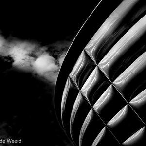 2016-10-21 - SSE Hydro in zwart-wit<br/>The SSE Hydro - Glasgow Science Centre - Glasgow - Schotland<br/>Canon EOS 5D Mark III - 35 mm - f/8.0, 1/250 sec, ISO 200