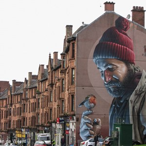 2016-10-22 - Muurschildering Saint Mungo - door SMUG<br/>Highstreet - Glasgow - Schotland<br/>Canon PowerShot SX1 IS - 14.6 mm - f/4.0, 1/125 sec, ISO 80