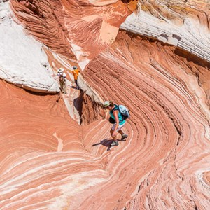 2014-07-17 - Samen met de andere familie<br/>White Pocket (Paria Canyon) - Kanab - Verenigde Staten<br/>Canon EOS 5D Mark III - 35 mm - f/11.0, 1/160 sec, ISO 100