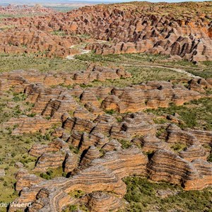 2011-07-20 - Uniek landschap, de Bungle Bungles van boven<br/>In helicopter boven de rotsen - Pernululu National Park (Bungle  - Australië<br/>Canon EOS 7D - 24 mm - f/5.0, 1/1000 sec, ISO 200
