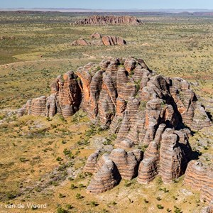 2011-07-20 - Uniek landschap, de Bungle Bungles van boven gezien<br/>In helicopter boven de rotsen - Pernululu National Park (Bungle  - Australië<br/>Canon EOS 7D - 32 mm - f/5.0, 1/800 sec, ISO 200