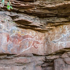 2011-07-23 - Aboriginal rotskunst<br/>Jinimum walk - Keep River National Park - Australië<br/>Canon EOS 7D - 40 mm - f/5.6, 1/40 sec, ISO 400